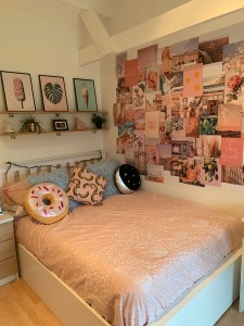 Bespoke wooden bed for a teenage girl