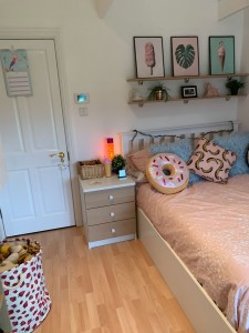 A bespoke Child's Bed and Side Unit