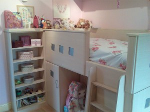 Child's Fitted Wooden Bed