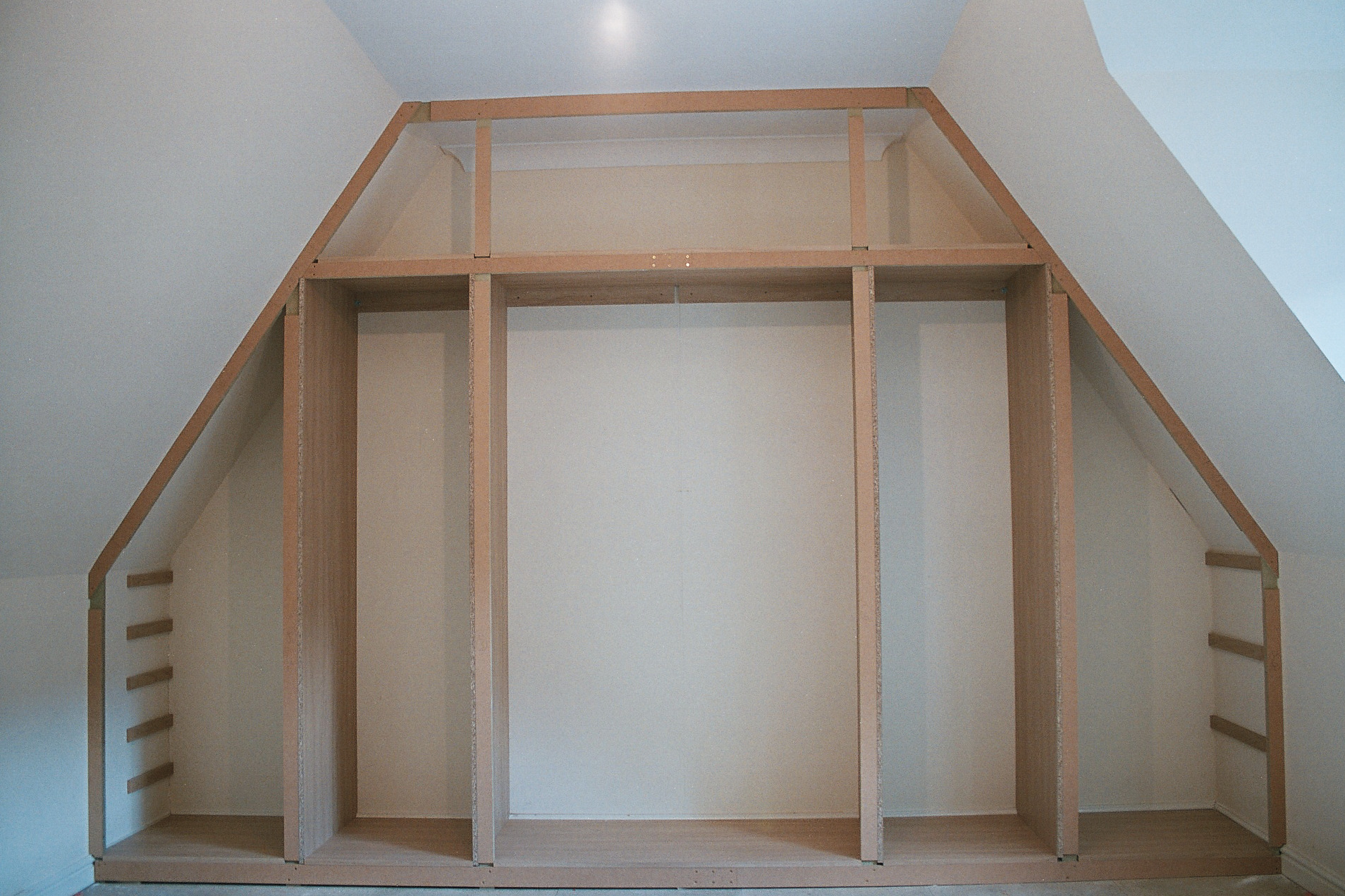 slanted attic bedroom ideas - Fitted Furniture For Loft Conversions and Angled Ceilings