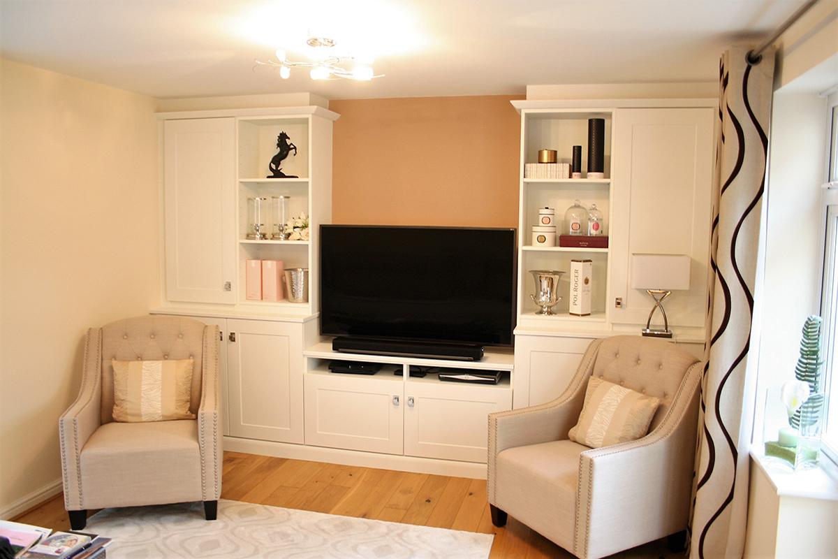 Bespoke fitted living room furniture Essex Hertfordshire uk